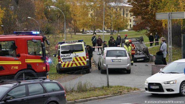Oslo'da silahlı şüpheli ambulans kaçırdı