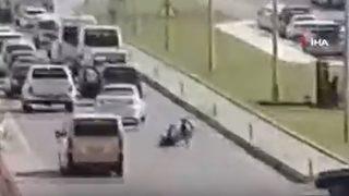 Turistin ölüm yolculuğu kamerada