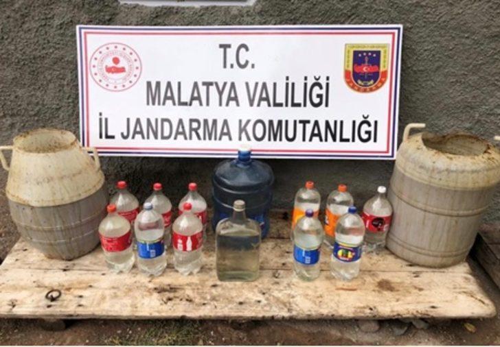 Malatya'da bin litre sahte içkiye 2 gözaltı