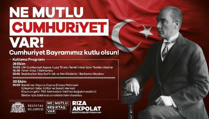 29 Ekim Cumhuriyet Bayramı Beşiktaş'ta etkinliklerle kutlanacak