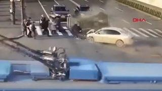 İnanılmaz kaza böyle görüntülendi