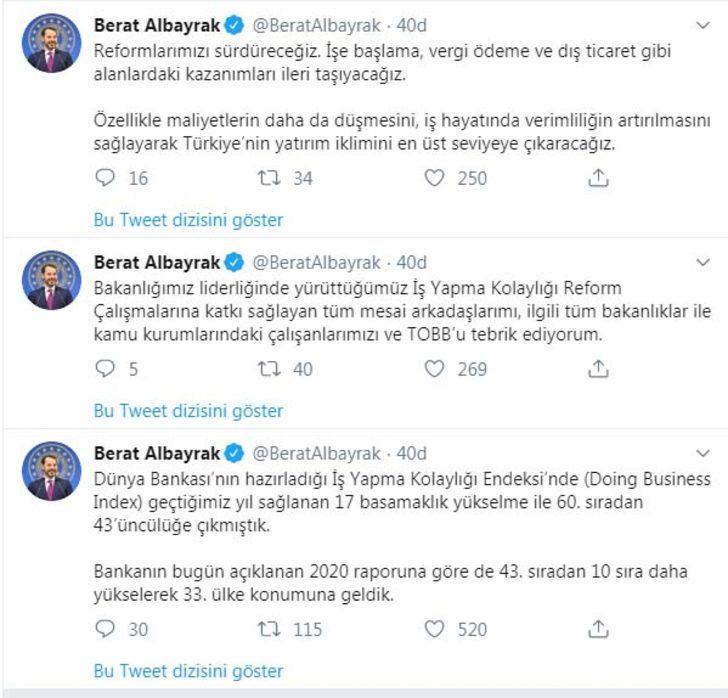 Bakan Albayrak: Türkiye 10 sıra yükseldi