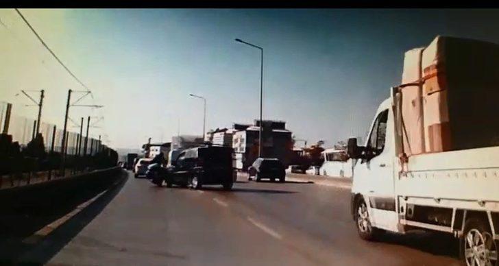 Bursa'da inanılmaz kaza kamerada