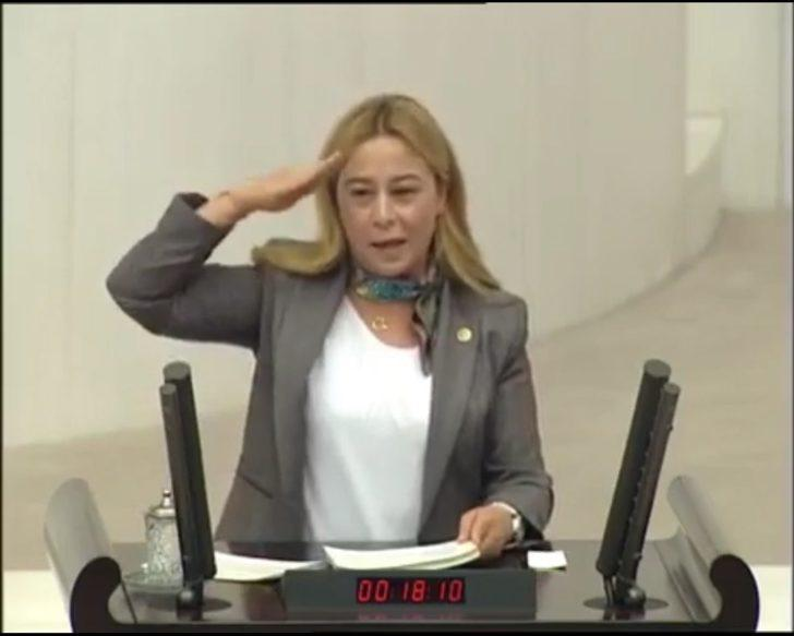 MHP milletvekili Esin Kara'dan TBMM'de asker selamı
