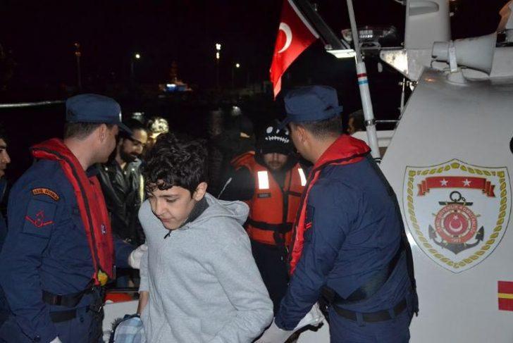 Fiber teknede 10 göçmen yakalandı