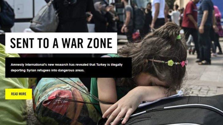 Af Örgütü: 'Türkiye Suriyeliler'i Zorla Geri Gönderiyor'