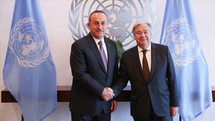 Bakan Çavuşoğlu, BM Genel Sekreteri ile görüştü