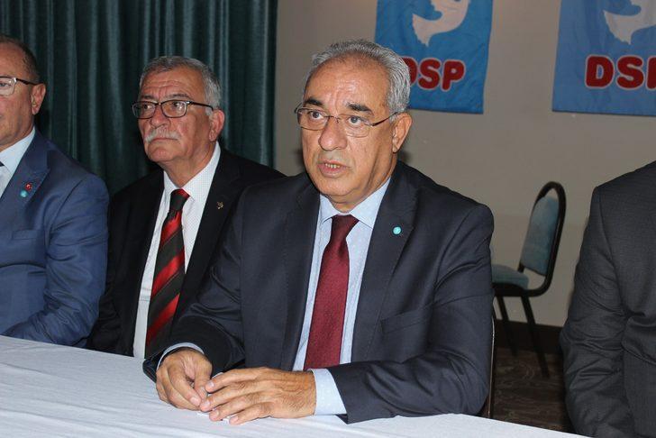 DSP Lideri Aksakal: Devletimizin dış güçlere karşı yürüttüğü her türlü mücadelenin arkasındayız
