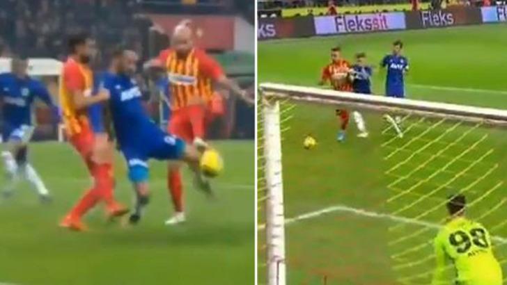 Kayserispor - Fenerbahçe maçına penaltı pozisyonları damga vurdu