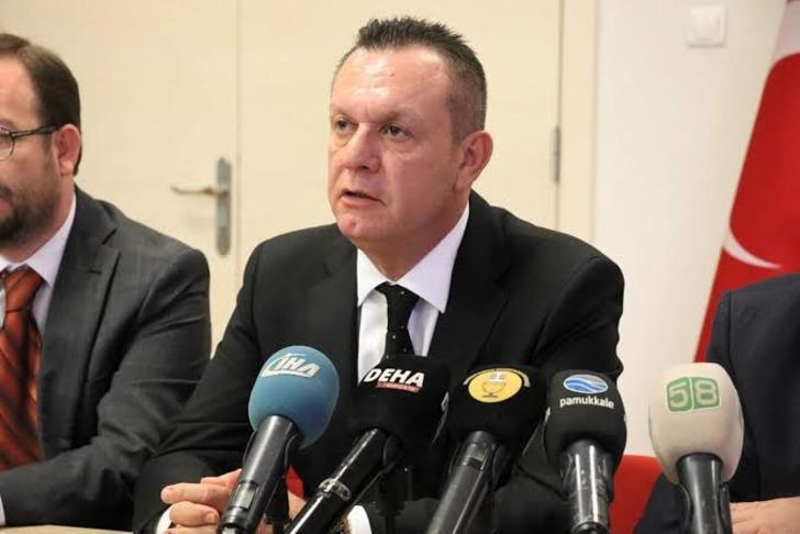 Denizlispor Başkanı Çetin: Onların söylemesiyle istifa etmeyiz