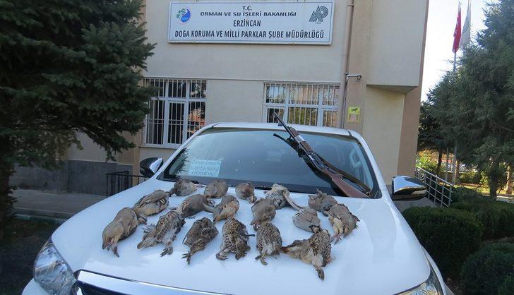 Usulsüz keklik avcılarına para cezası