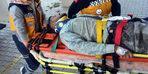 Halatı kopan iskeleden düşen 2 işçi yaralandı