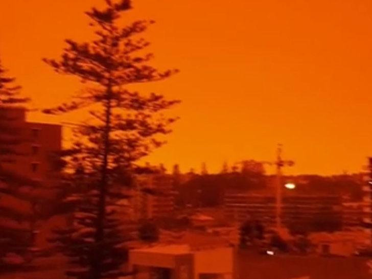 Avustralya alevlere teslim! Gökyüzü turuncuya büründü