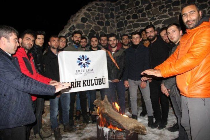 9 Kasım Tabyalar Yürüyüşü! Erzurum'da tarihi Aziziye ve Mecidiye tabyalarında saygı nöbeti