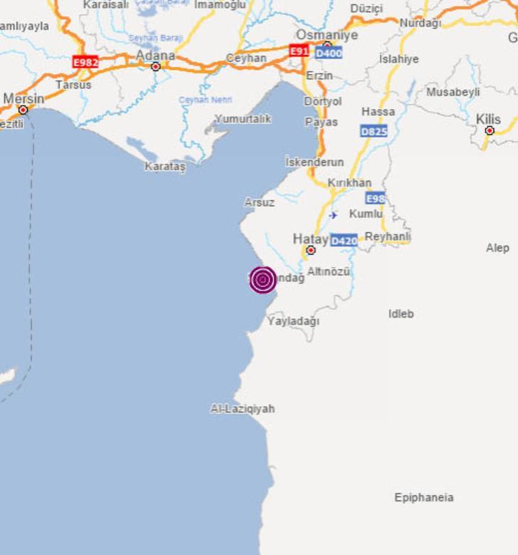 Son dakika... Antakya Körfezi'nde 3.5 büyüklüğünde deprem