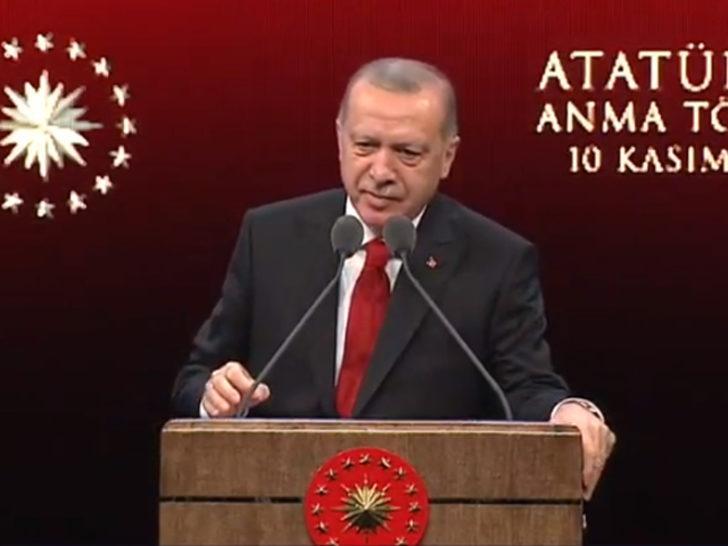 Cumhurbaşkanı Erdoğan'dan 10 Kasım anma programında açıklamalar