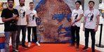 1500 rubik küpten Atatürk portresi yaptılar