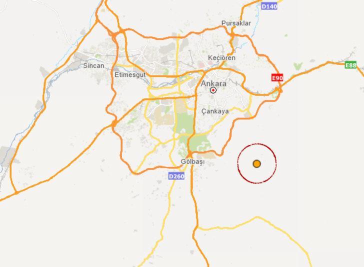 Son dakika: Ankara'da 3.4 büyüklüğünde deprem! (AFAD-Kandilli son depremler)