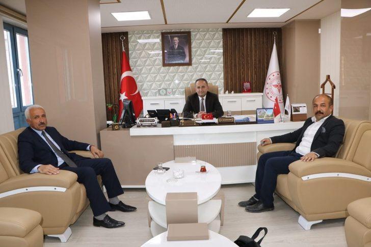 Başkan Aksaç'tan Müdür Kara'ya ziyaret