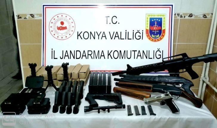 Konya'da ruhsatsız silah operasyonu: 1 gözaltı
