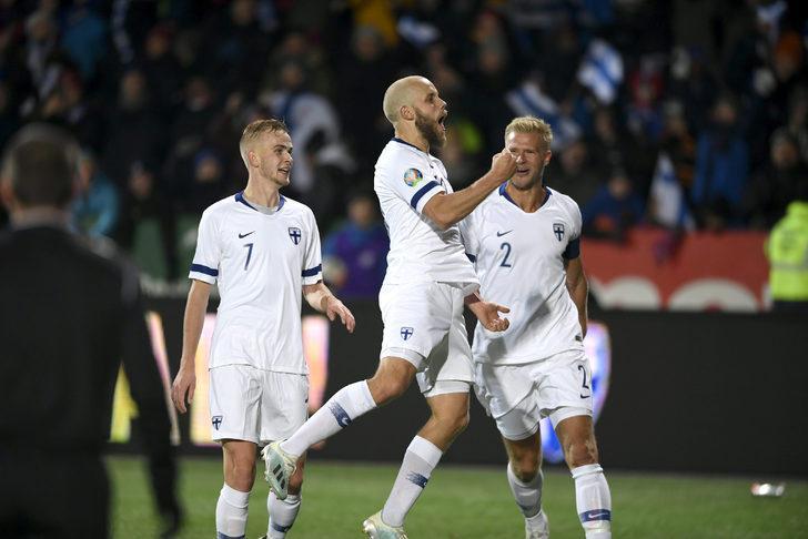 Finlandiya tarihinde ilk kez Avrupa Futbol Şampiyonası'na katılma hakkı kazandı