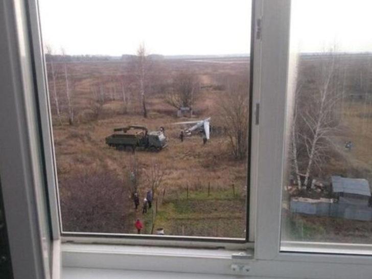 Rusya'da İHA apartmanın yanına düştü