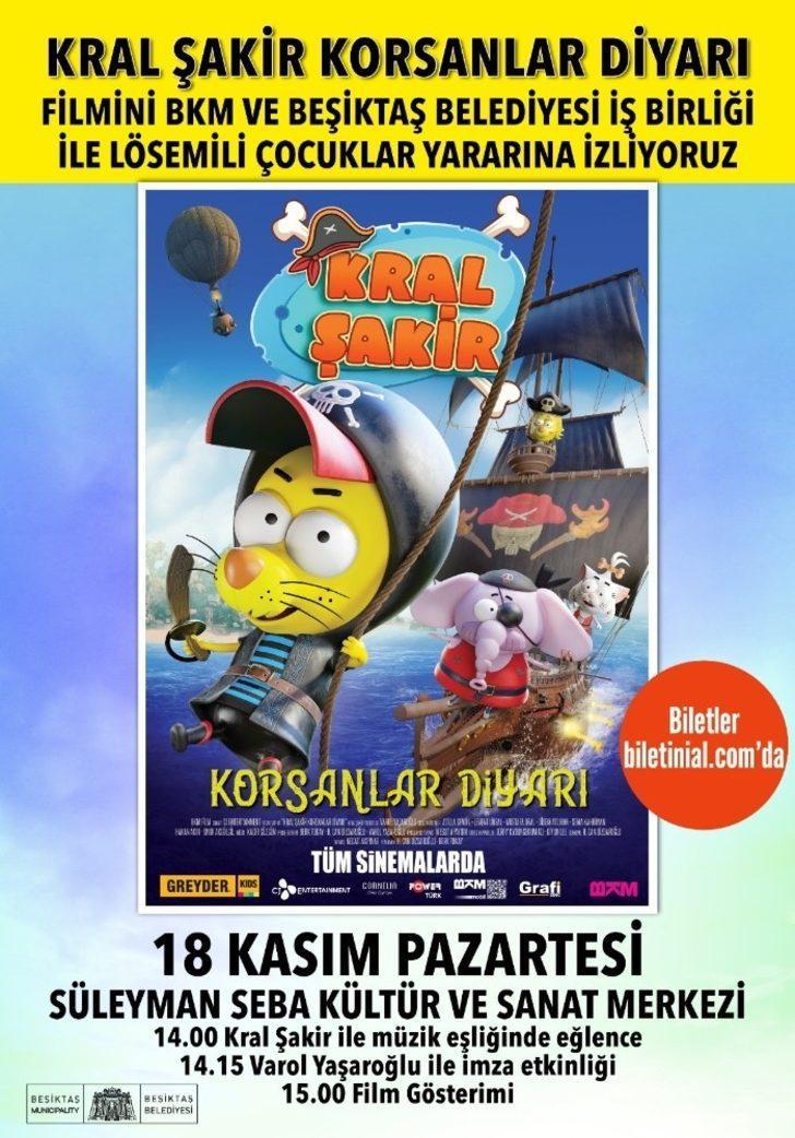 Beşiktaş'ta lösemili çocuklar yararına film gösterimi