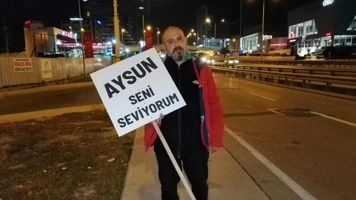 Eşiyle barışabilmek için Ankara'ya yürüyor!
