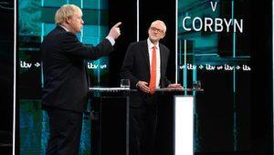Boris Johnson ve Jeremy Corbyn'in canlı yayında karşı karşıya gelmesi İngiltere basınında