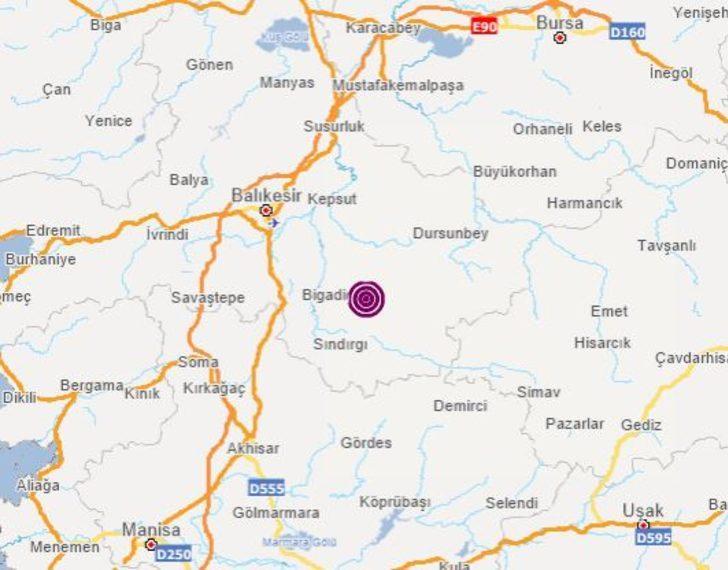 Son dakika Balıkesir'de deprem! (Son depremler AFAD-Kandilli Rasathanesi)