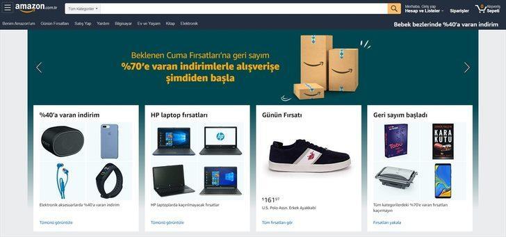 """Amazon.com.tr'den """"Beklenen Cuma""""ya özel yüzde 70'e varan indirim"""