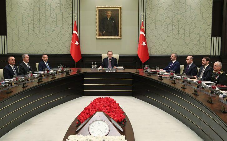 Cumhurbaşkanı Recep Tayyip Erdoğan başkanlığında Milli Güvenlik Kurulu toplandı