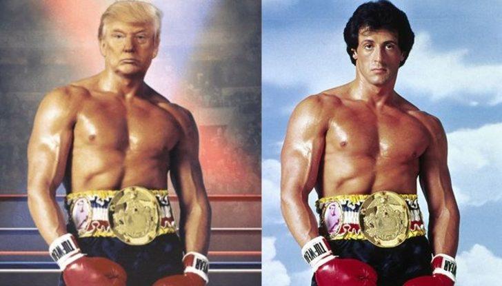 ABD Başkanı Donald Trump'tan ilginç paylaşım! Azil soruşturmasına 'Rock Balboa'lı gönderme