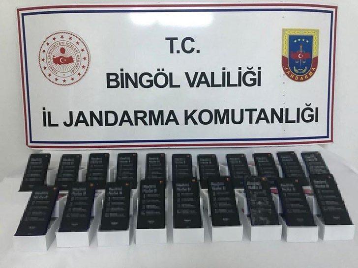Bingöl'de, 40 bin liralık kaçak cep telefonu operasyonu