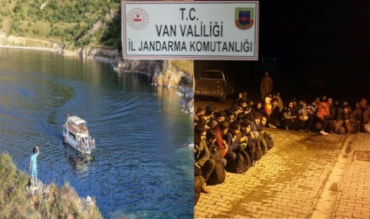 Van'da 41 kaçak göçmen yakalandı, 14 organizatör gözaltına alındı