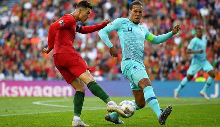 Ronaldo'nun ablasından Van Dijk'a yaylım ateşi
