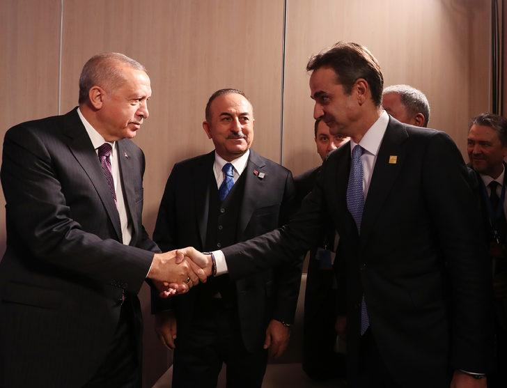 Erdoğan, Yunanistan Başbakanı Kiriakos Miçotakis'i kabul etti