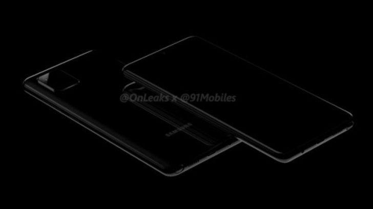 Galaxy Note10 Lite modelinin render görüntülerini yayınladı.