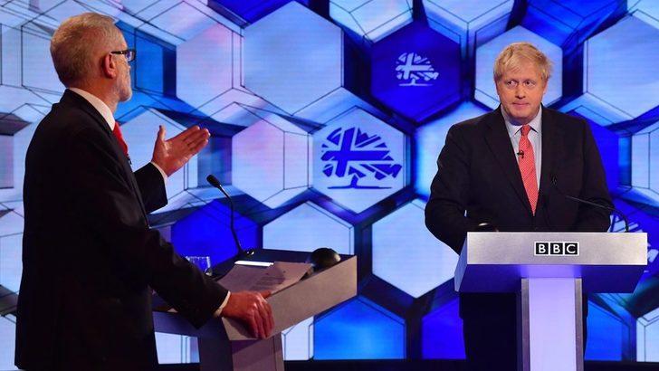 Boris Johnson ve Jeremy Corbyn BBC canlı yayınında Brexit'i tartıştı