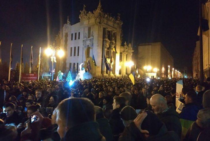 Kritik temas öncesi başkentte protesto