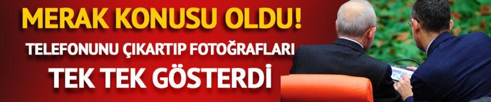 Kılıçdaroğlu'na gösterdiği fotoğraflar merak konusu oldu