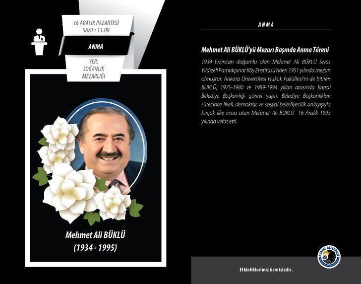 Kartal Belediyesi eski başkanlarından Mehmet Ali Büklü kabri başında anılacak