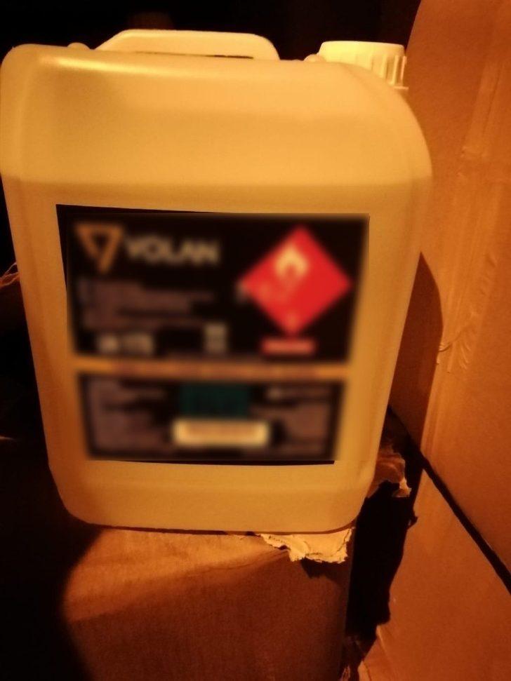 Otomobilde 760 litre etil alkol ele geçirildi
