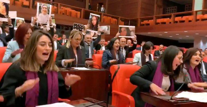 TBMM'de kadın vekiller Las Tesis'in sloganıyla Soylu'ya seslendi