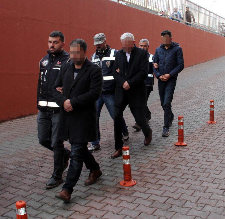 Kayseri'de 7 FETÖ şüphelisi adliyede