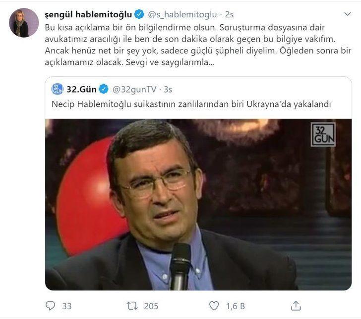 Necip Hablemitoğlu'nun eşinden açıklama