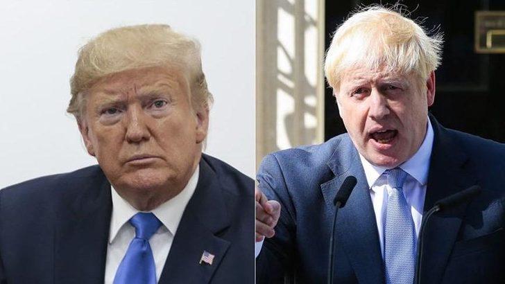 ABD Başkanı Trump ve İngiltere Başbakanı Johnson telefonda görüştü