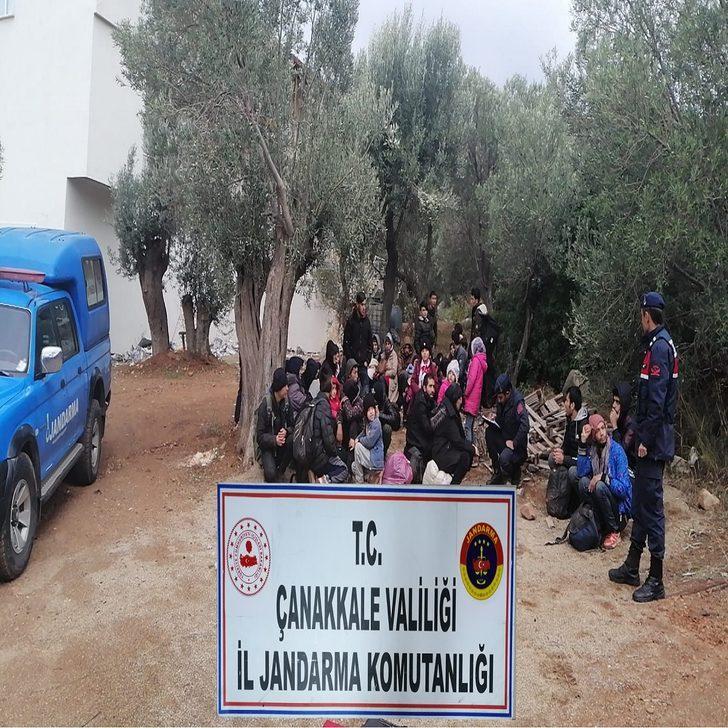 Çanakkale'de 201 kaçak göçmen yakalandı