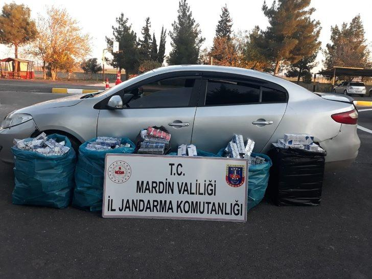 Mardin'de 5 bin paket kaçak sigara ele geçirildi