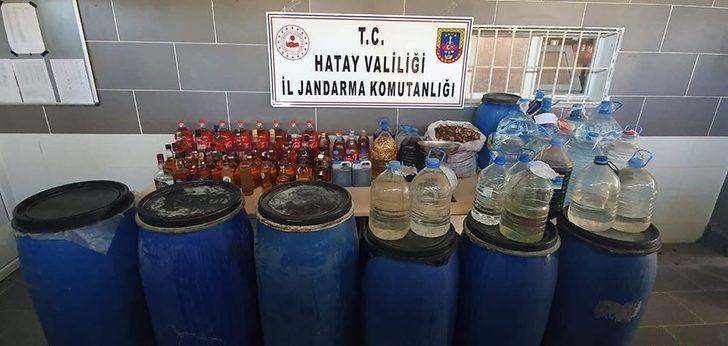 Hatay'da kaçak içki üreten 4 kişi gözaltına alındı